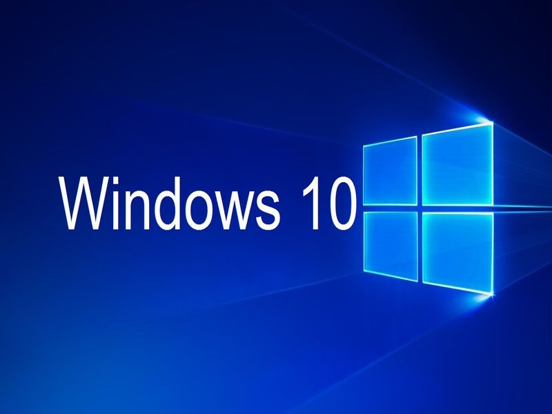 Na obrazku logo windows 10