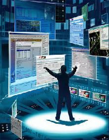 Wizualizacja wirtualnego zarządzania siecią