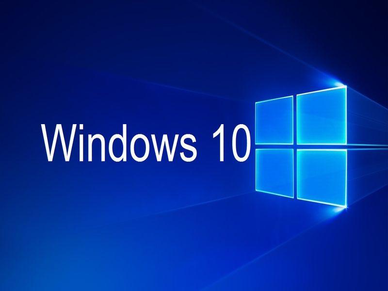 Na obrazku logo windows 10